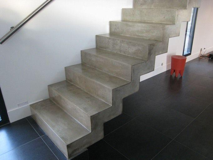Les 10 meilleures images du tableau escalier monobloc - Escalier beton lisse ...