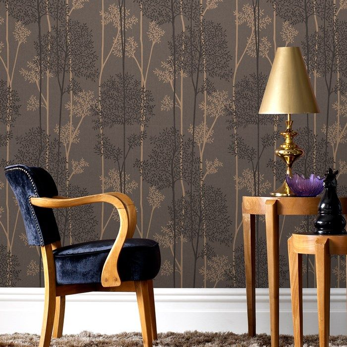 Eternal Chocolate / Bronze Wallpaper by Graham and Brown