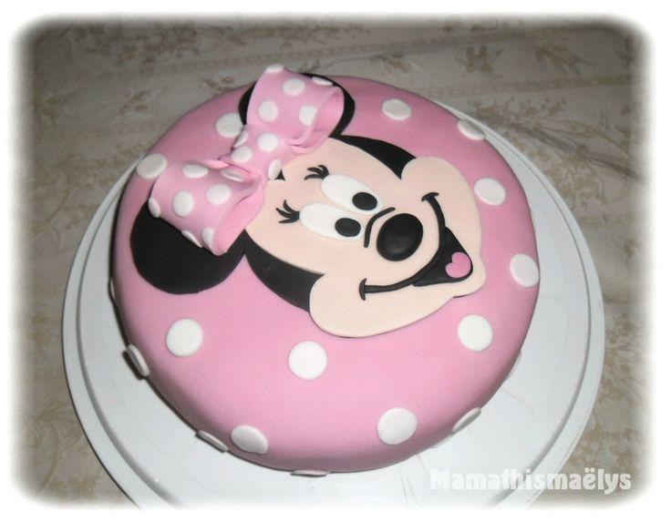 gâteau d'anniversaire minnie en pâte à sucre tuto décor … | pinteres…