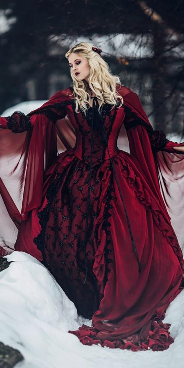Gothic Wedding Dresses Challenging Traditions Wedding Forward Gothic Wedding Dress Medieval Wedding Dress Red Wedding Dresses