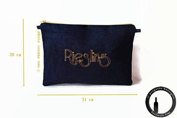 Riesling-Riesling bottle-Denim bag-Jeans bag Raw