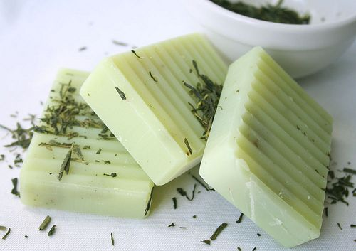 Lemon grass, green tea and oatmeal soap