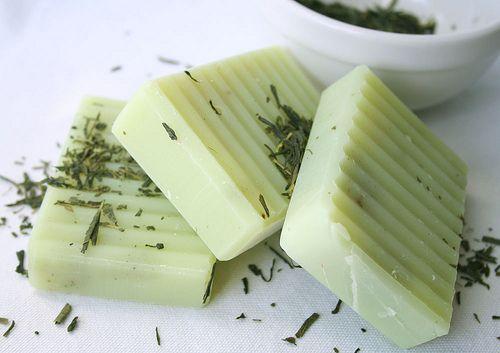 Lemongrass, Green Tea, and Oatmeal Soap