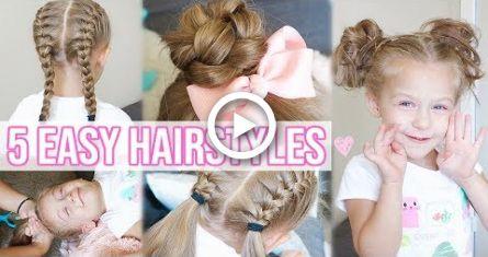 5 easy hairstyles little girls