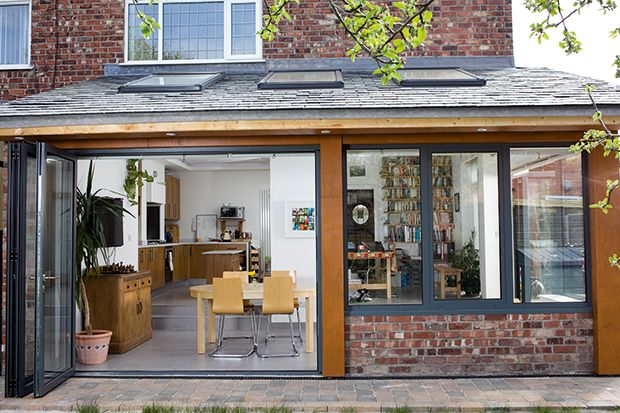 This extension project cost £55,000 for design, materials, construction, and underfloor heating