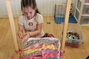 I like this idea, ribbon loom, I think our kids would like this :) Reggio Emilia Preschool Classroom - Bing Images