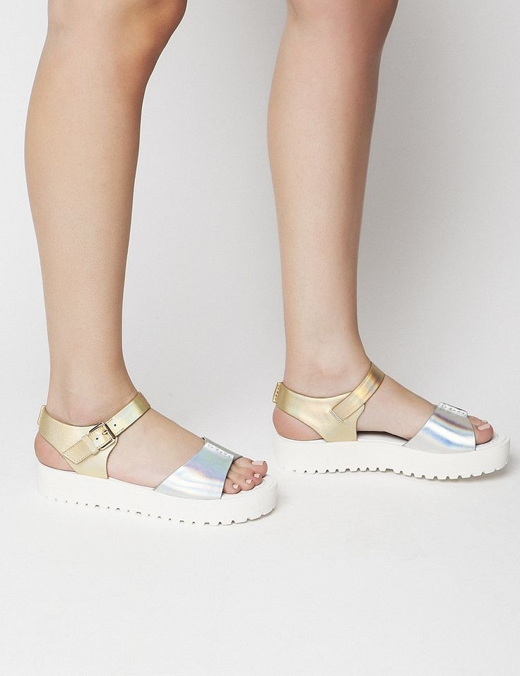 Bree Silver Flatforms S/S 2015 #Fred #keepfred #shoes #collection #fashion #style #new #women #trends #flatforms #gold #silver #sandals #leather