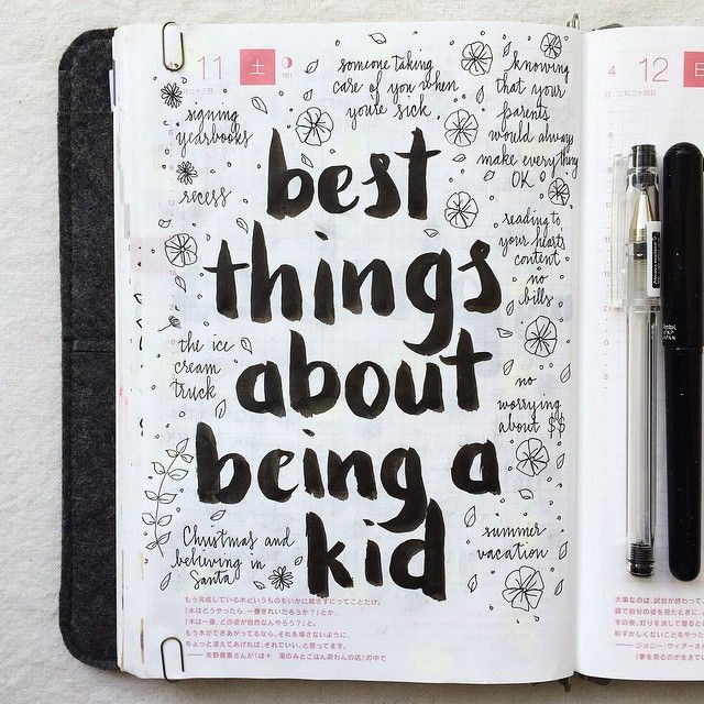 Day 11 of #listersgottalist: best things about being a kid ❤️ #hobonichi #lists…