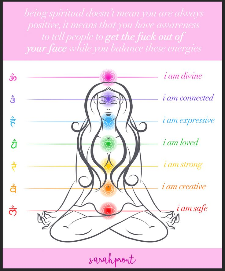 Being spiritual doesn't mean you are always positive, it means that you have awareness to tell people to the fuck out of your face while you balance these energies!  Image and reminder by @SarahProut