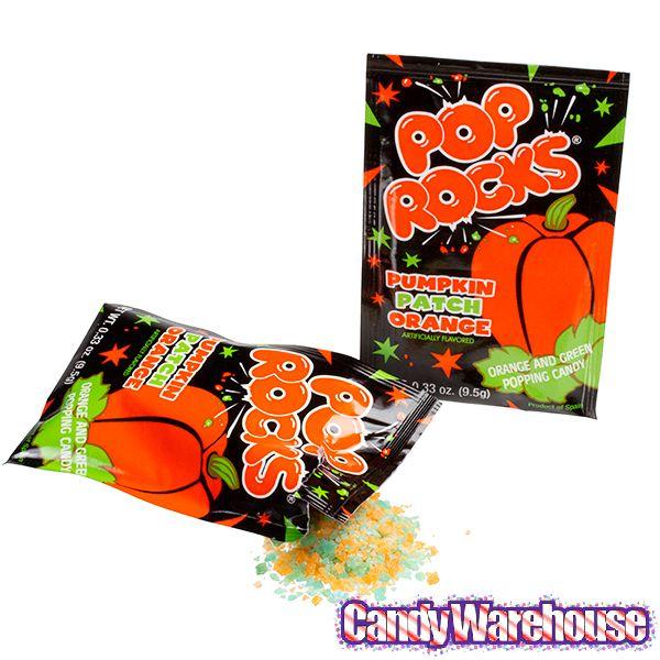 Pumpkin Patch Pop Rocks Candy Packs: 36-Piece Box