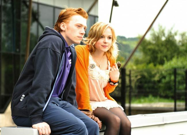 Kimberley Nixon and Rupert Grint in a still from the movie, Cherrybomb...