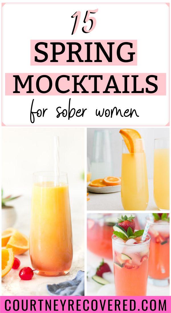 15 spring mocktails  virgin cocktails nonalcoholic