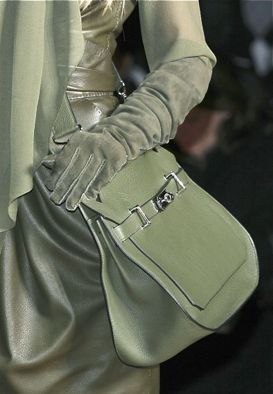 Hermes beautiful green accessories