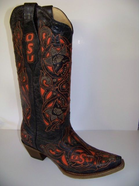 I got mine before they started putting the OSU on them.  :-(  Vintage laser OSU boot with Brand- HighStrungOKC.com