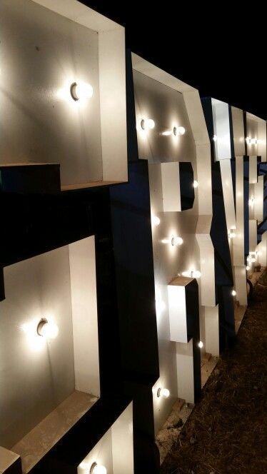 Letters and bulbs decoration events  festival de la cerveza