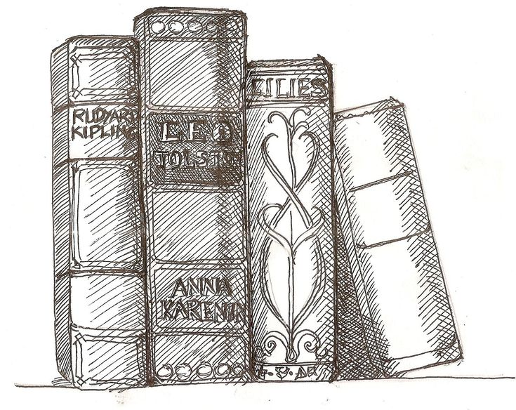 books images | step by step drawing lesson on how to draw book
