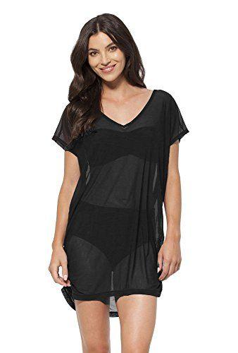Anne Cole Women's Color Blast Mesh V Neck Side Shirred Tunic Cover Up Swimsuit-L/XL-AC16_Blk - http://todays-shopping.xyz/2016/06/23/anne-cole-womens-color-blast-mesh-v-neck-side-shirred-tunic-cover-up-swimsuit-lxl-ac16_blk/