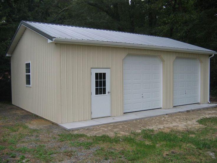 24 x 24 x 12 prefabricated prefab pole building kit includes foundations