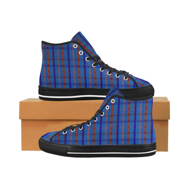 Royal Blue Plaid Hipster Style Vancouver H Men's Canvas Shoes by Scar Design. #shoes #style #fashion #sneakers #art #online #shopping #39 #geometric #family #giftsforhim #giftsforher #womensshoew #mensshoes #kidsshoes #boots #scardesign #artsadd #cheapshoes #gothic #skull #plaid #plaidshoes #gifts #pattern #dots #pop #popart #popculture #modern