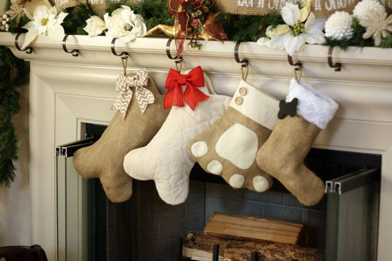 Pet Stockings  Burlap Christmas Stockings for Dogs by BurlapBabe