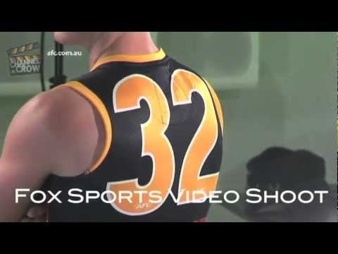 Who poses best in this Fox Footy video shoot?