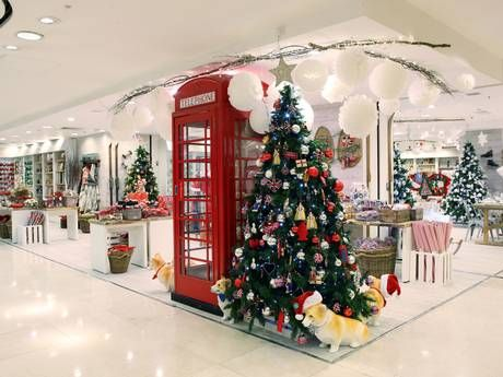 A very British Christmas display inside the store (Gareth Davies)