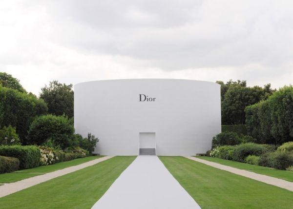 Dior's feminine haute couture show is set against white orchids