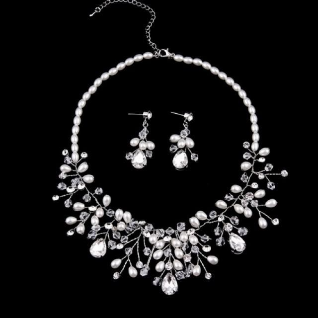 Beaded Crystal Bridal Jewelry Sets