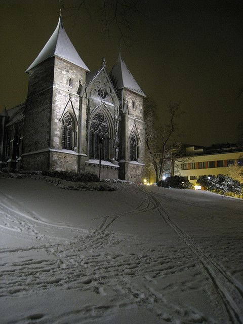 Stavanger Cathedral in Winter, Norway