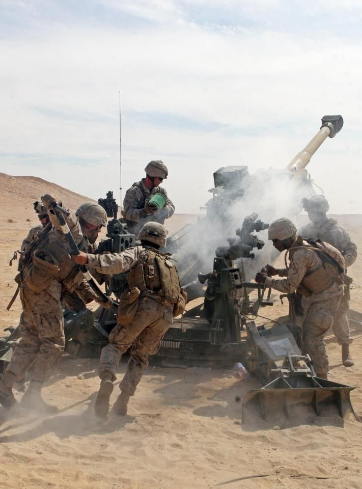 The M777 Lightweight 155mm howitzer provides timely, accurate and continuous firepower in support of Marine Infantry forces.
