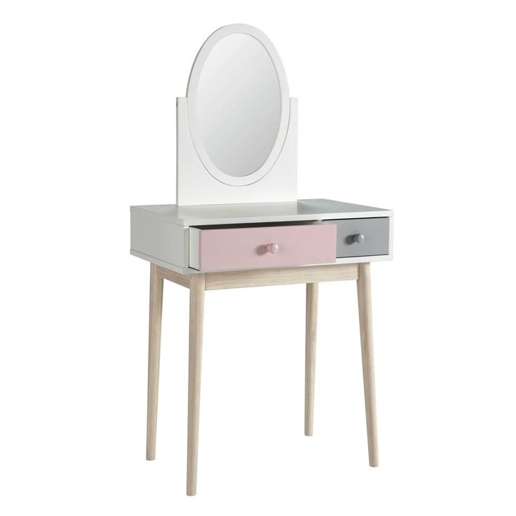 amazing from maisons du monde wooden dressing table in white blush with maison du monde camille. Black Bedroom Furniture Sets. Home Design Ideas