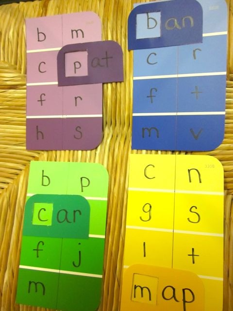 Word game made with paint swatches...  :)