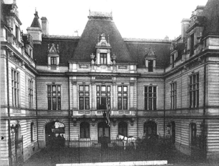Bucuresti - Palatul Lahovary, sediu al legatiei sua la inceput de secol 20, str. Orlando (redenumita Gina Patrichi)