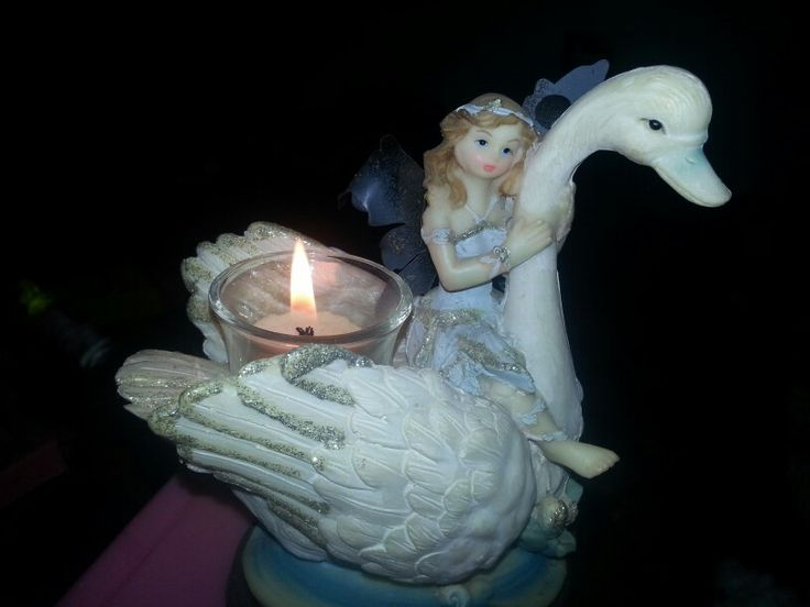 Swan with candle. I like candles with different apperance