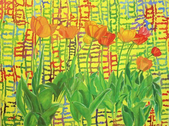 Ocean Art Beach House Art Beach Art Ocean Wall Art Tulips