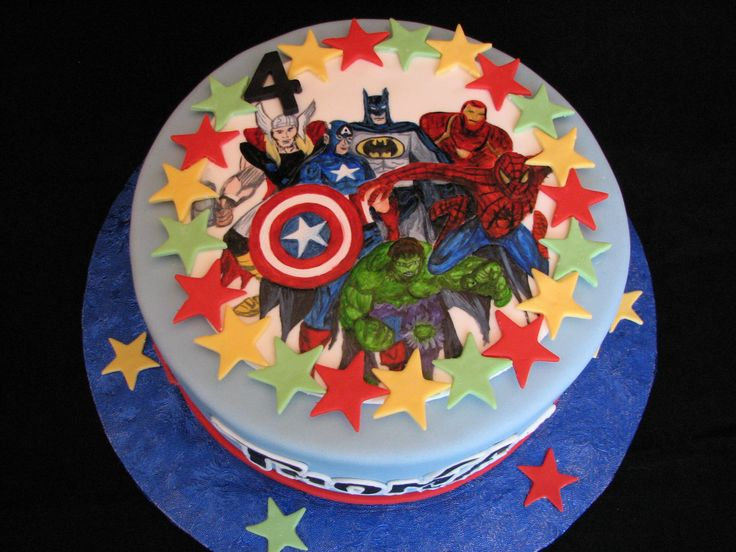decoration gateau super heros