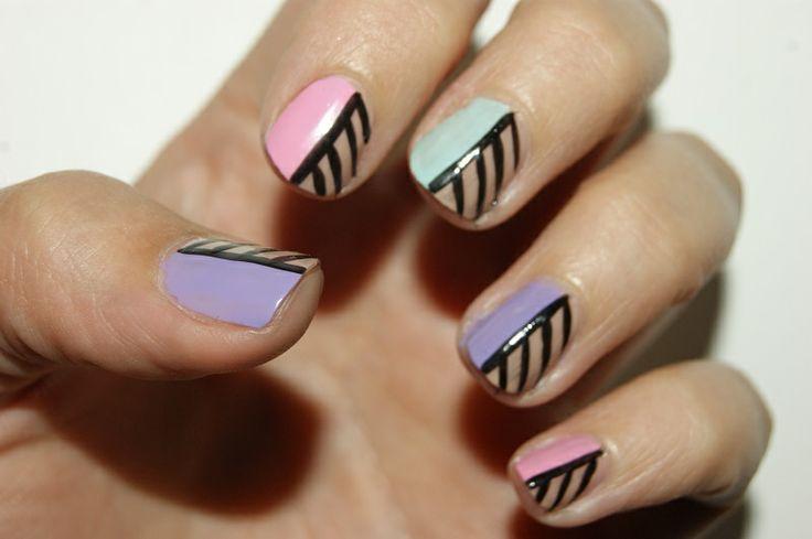 Nail art by me :) Cassandra Berg.  camslykke.blogspot.no #nail #nailart #naildesign #negler #negledesign #nailpolish #neglelakk