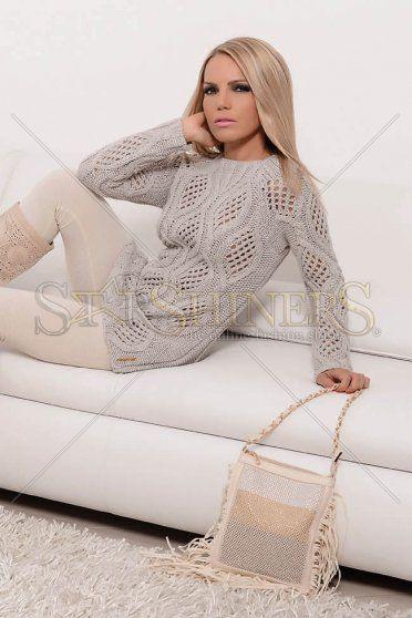 MissQ Same Elegance Grey Blouse