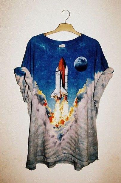 top t-shirt shirt space rocket tumblr grunge alternative pinterest