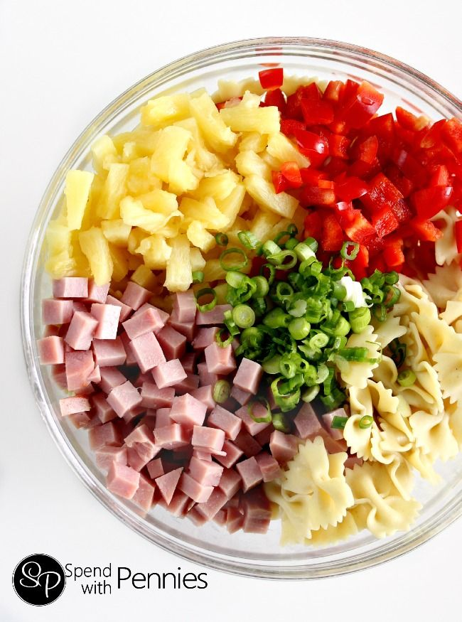 Hawaiian Pasta Salad With Pineapple Dressing