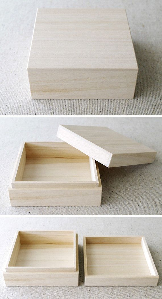 Wooden gift box  JAPANESE STYLE  B TYPE by karaku on Etsy, ¥900