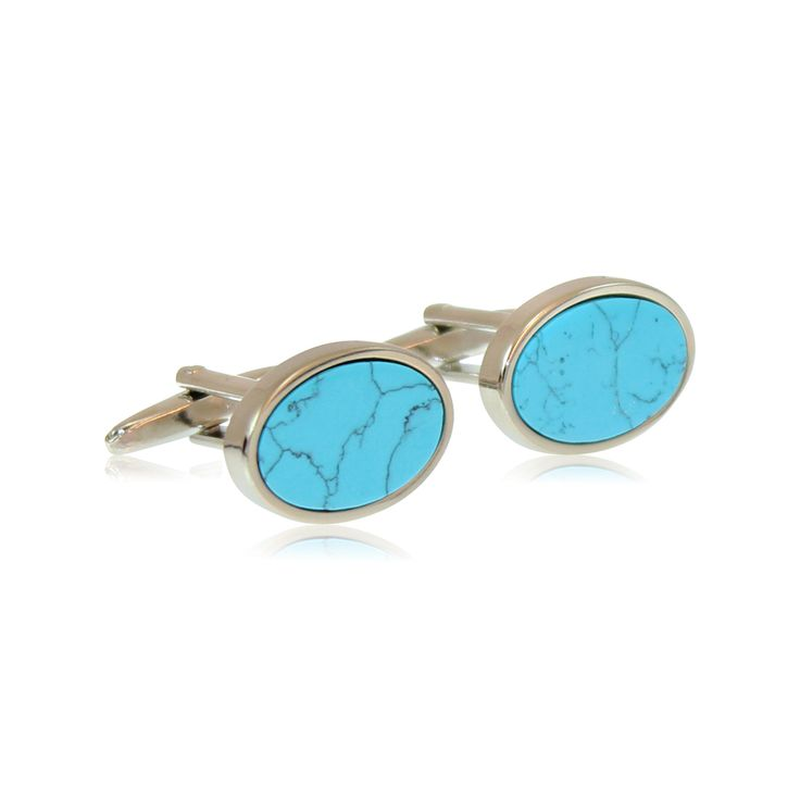 High quality rhodium plated cufflinks with semi-precious Turquoise.  Our cufflinks are made from solid brass with rhodium plating. The rhodium ensures a tarnish-free appearance unlike similar cufflinks made from nickel or sterling silver. The jewellery's brass construction and moulded fastening clasp will remain solid and firmly attached for the lifetime of your cufflinks. Expect to enjoy these for the next 20 years! http://www.byariane.com.au/Cufflinks-Carribean-Pool