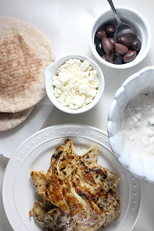Chicken Gyros With French Fries, Tsatziki, and Feta | 21 Completely Genius Ways To Cook Boneless, Skinless Chicken Breasts
