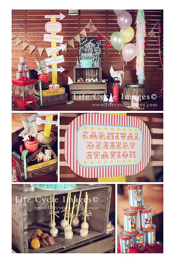 Best 25 vintage carnival ideas on pinterest diy vintage circus birthday party vintage - Cheap circus decorations ...