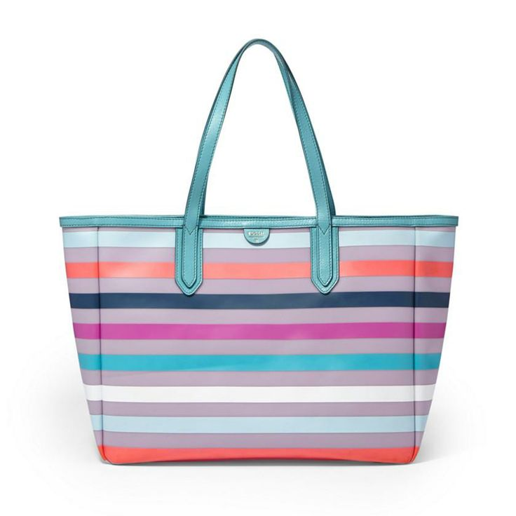Our Sydney E/W Tote in Blue Stripe: chic, easygoing inspiration for your next look. #30looksfor30years