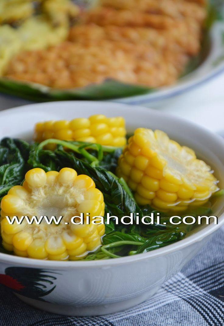 bening bayam + jagung...