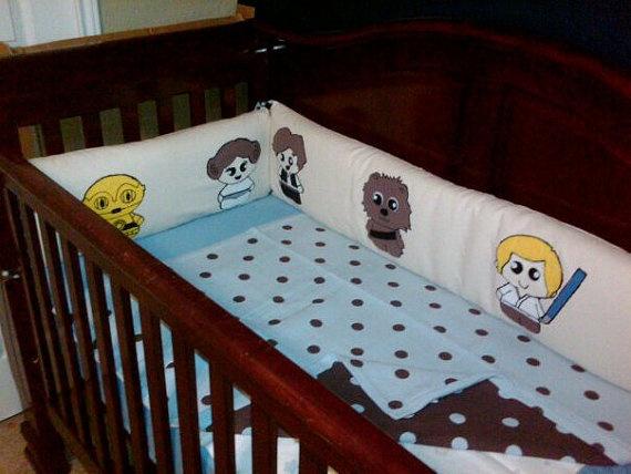 Custom Star Wars Baby Crib Bumper And Death Star By