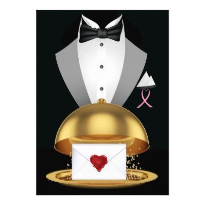 A Pink Ribbon Formal Invitation - invitations custom unique diy personalize occasions