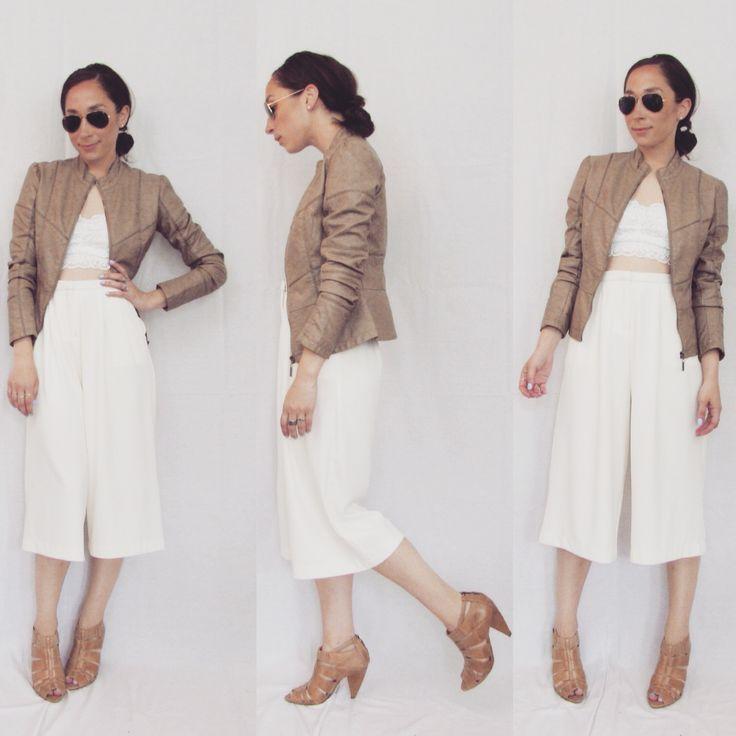 La jupe-culotte fait son grand come-back! Plusieurs couleurs disponible en magasin(Culottes:$19.98, Top en dentelle:$19.98, Manteau faux cuir:$69.98) www.republiquecollection.com #montreal #ootd #mtl #fashion #mode #summerfashion