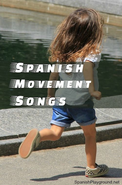 Spanish movement songs to run, jump, dance, spin and learn! Kids play and sing with 5 songs to teach language the most effective way, with movement!